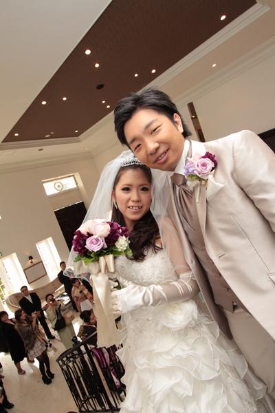 ブーケトス、見事に受け取った子が次に結婚しました☆