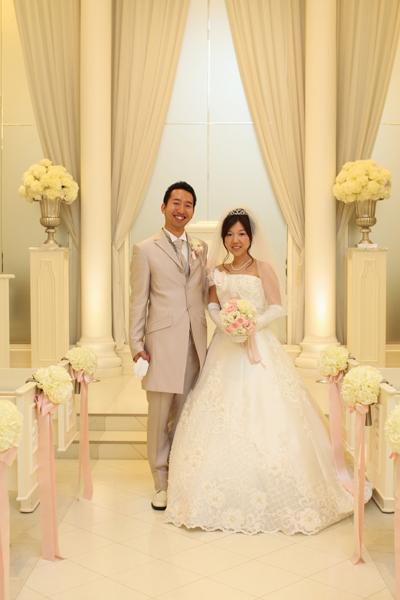 「結婚しました!」式場でのお気に入りの一枚。