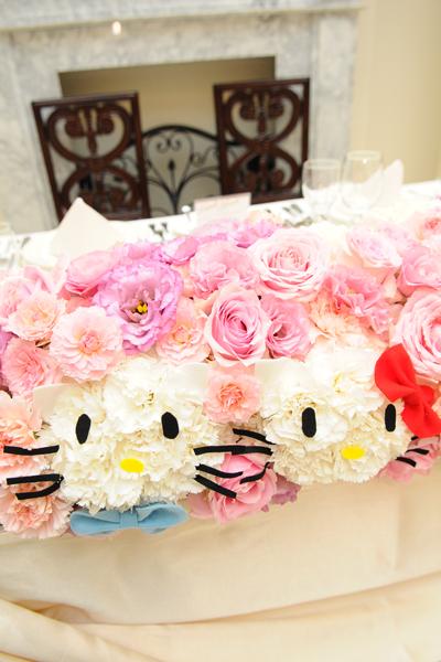 大好きなキティちゃんをお花に