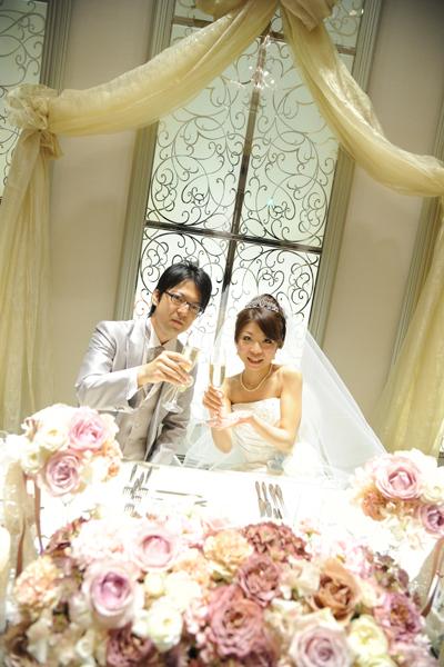 結婚式の始まりです