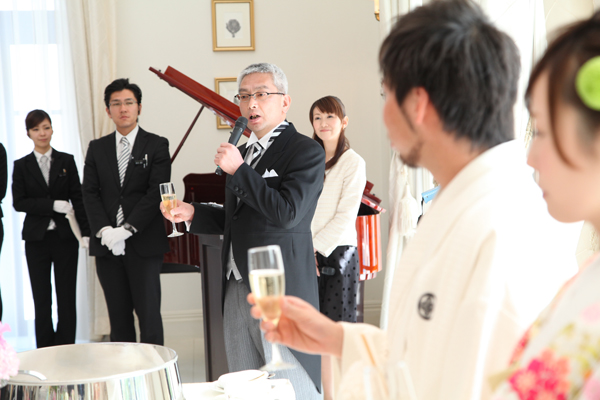 新郎父の乾杯スピーチ♪ 司会の水野志保さんも私たちの式を盛り上げてくれました♪
