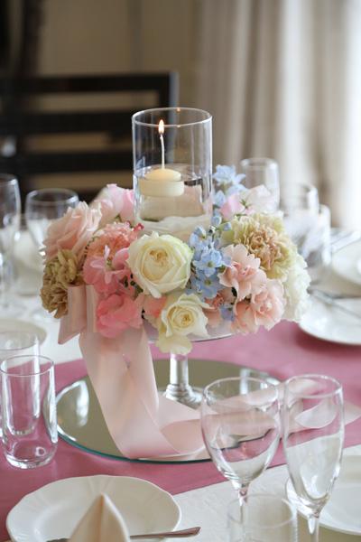 すっごく満足で嬉しかったテーブル装花!私の好みを120%理解してくださいました!