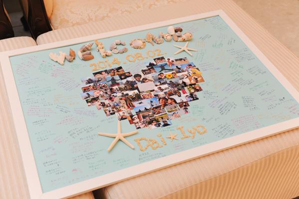 皆さんの温かいメッセージで完成したウェルカムボード 本当にありがとうございました