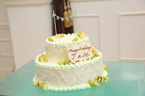 イメージ通り!かわいいウエディングケーキ