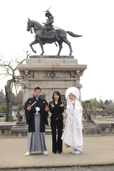 吉田さんと伊達正宗像の前で写真とれて嬉しかった
