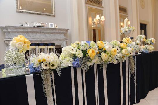 会場の装花も理想通りで大満足