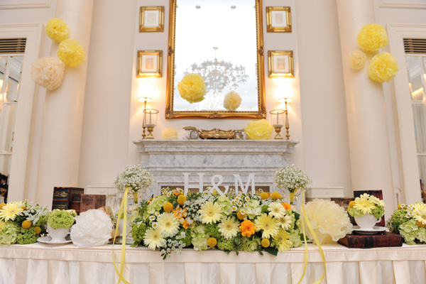 イメージ通りのお花と飾り