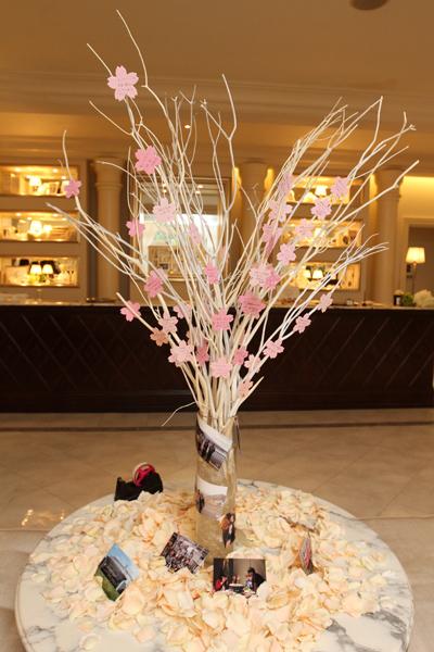 ゲストのメッセージで桜の木が満開に!!