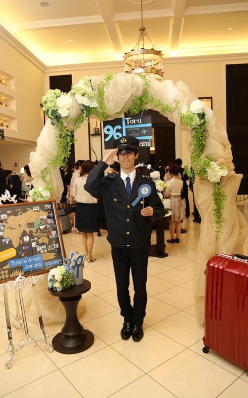 エントランスは空港のイメージで、金属探知機も用意していただきました。<br /> 保安検査官さんに感動!