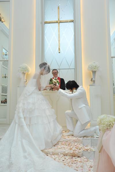 新郎からサプライズで公開プロポーズ^^