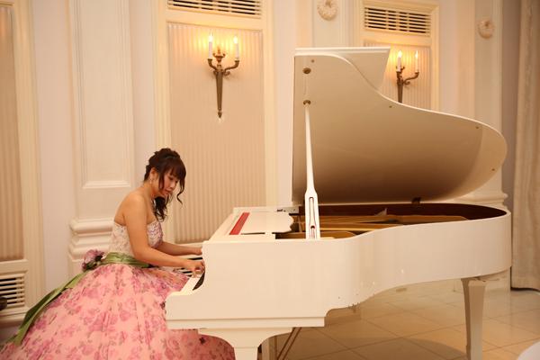 結婚式で大好きなピアノが弾けて嬉しかったです♪