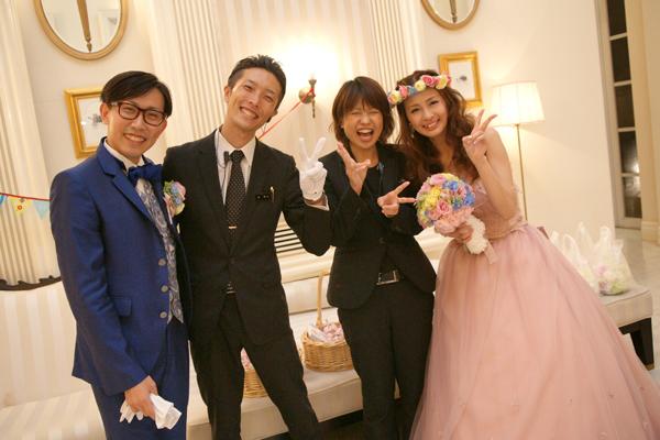 迎賓館のスタッフの湯地さん、東さんと!本当にありがとうございました!