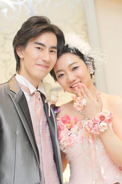 会場でもう一度プロポーズ!花のリングを貰いました