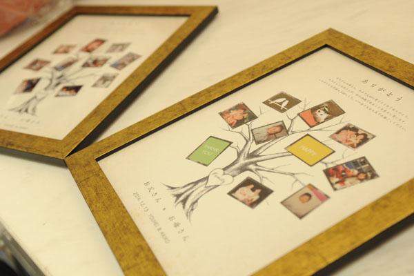 両親へのプレゼントは家族の絆をモチーフにファミリーツリーを手作り