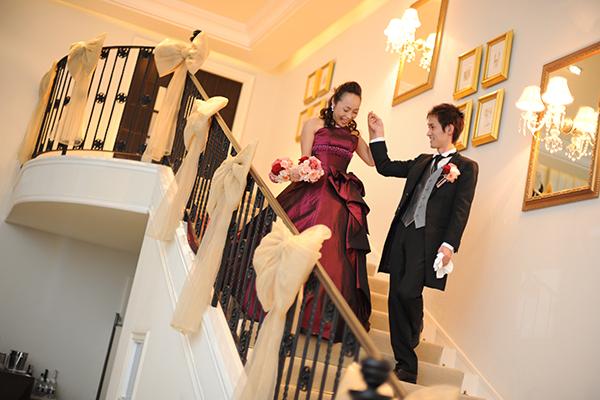 階段エスコートに憧れて・・・♡