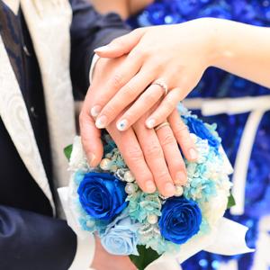 青いバラ「奇跡、夢叶う」