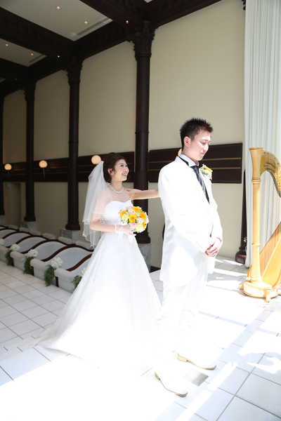 Wedding dressでのファーストミート☆緊張の瞬間です