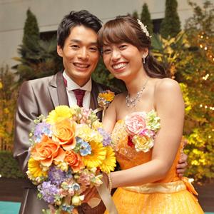 笑顔が素敵なお2人の結婚式…♡