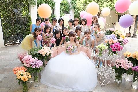 AKB48新曲『しあわせを分けなさい』ミュージックビデオ(8月31日発売)の挙式・披露宴をアーフェリーク白金にてプロデュースしました