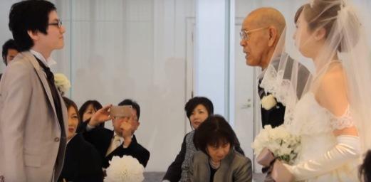 【杖はいらん!!】孫と祖父の絆がかなえた バージンロードの約束